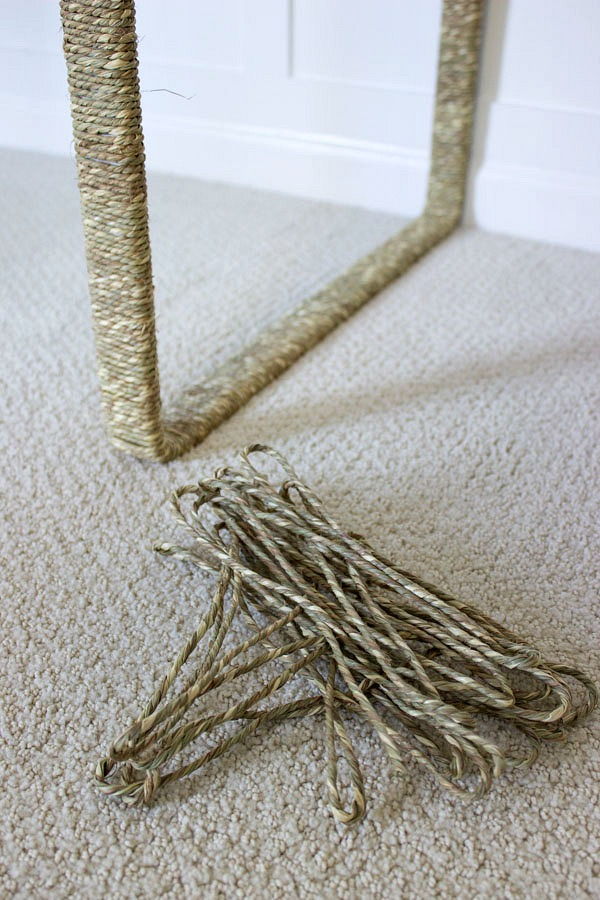Use grass cord to wrap around desk or table legs to add texture and interest