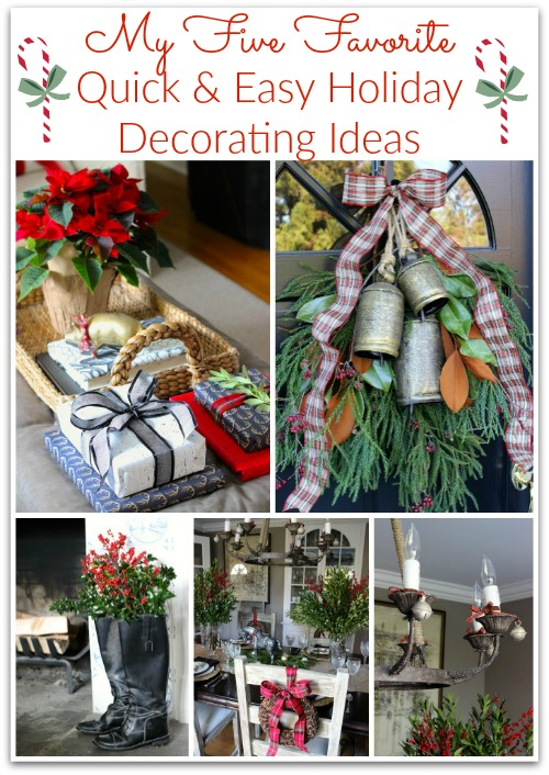 Five simple holiday decorating ideas for a beautiful holiday home!