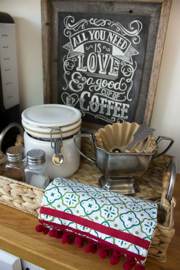 Holiday coffee station - so cute!