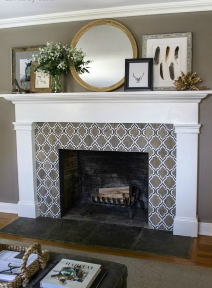 Our New Fireplace Tile Surround!