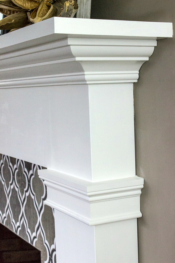 Profile of fireplace mantel