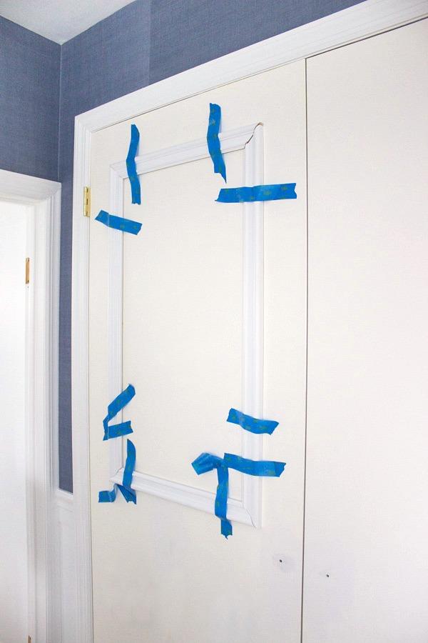 Adding molding to a flat paneled door