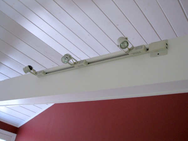 Beams with track lighting