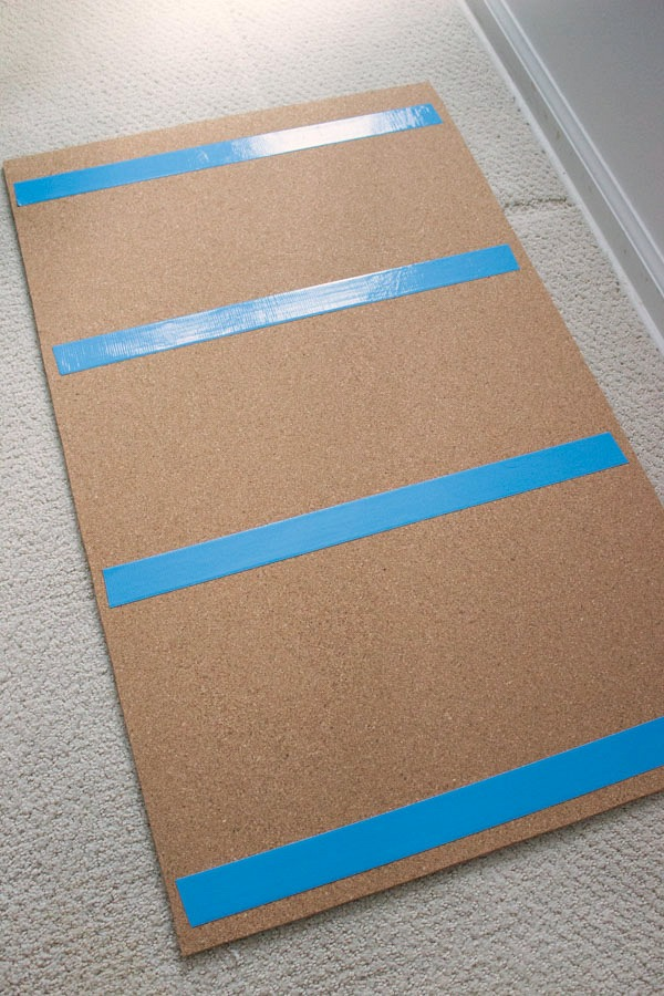Corkboard with double sided duct tape on the back