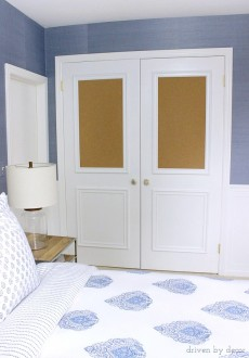 Cork Board Closet Doors: Boring, Flat Doors No More!