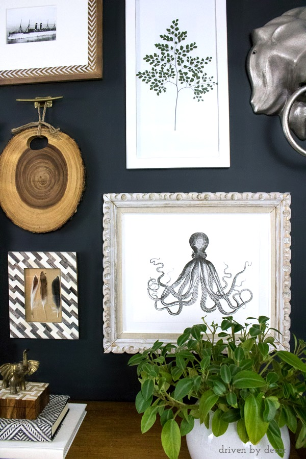 Great octopus art that's a free printable! (post includes link)