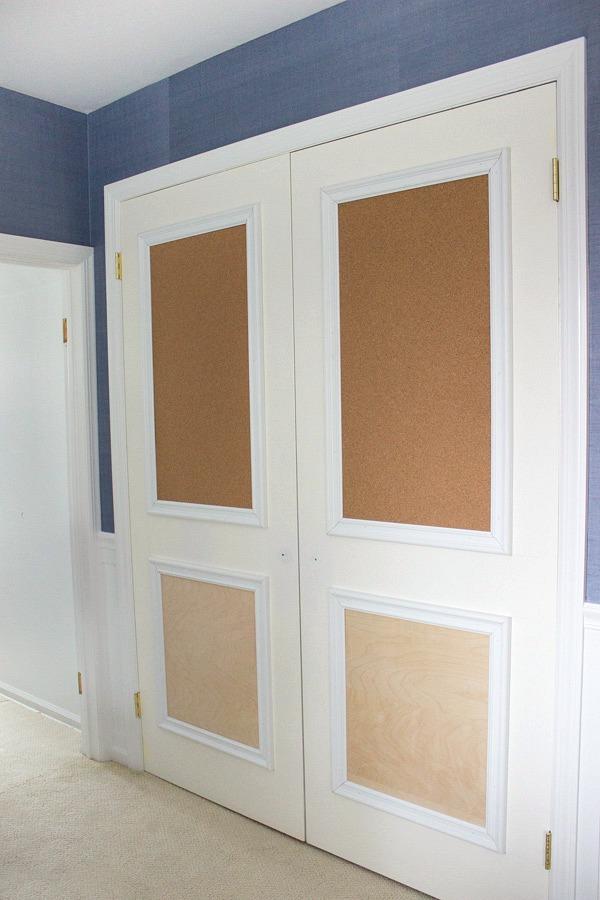 In-progress transformation of closet doors!