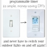 LOVE the idea of a timer that turns outdoor lights on and off automatically!!