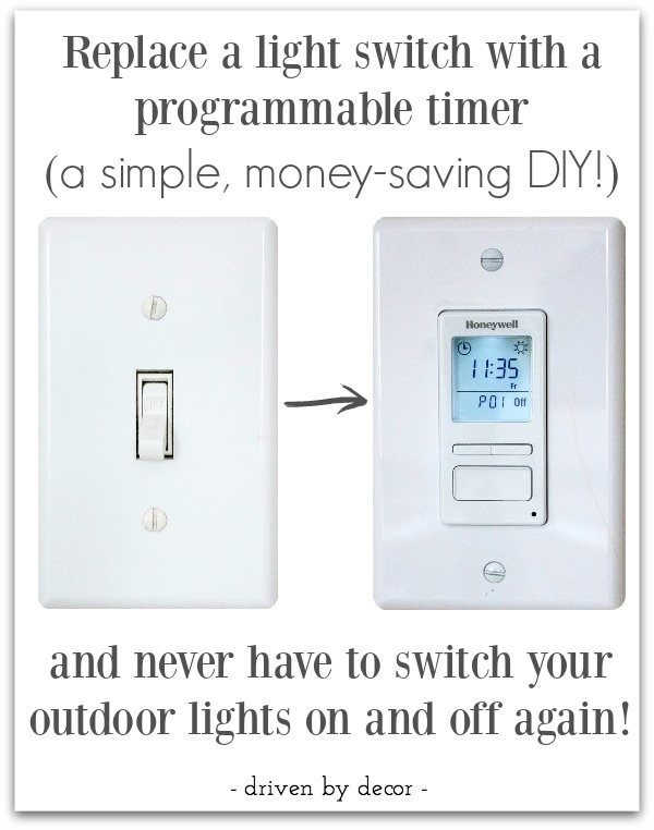 The Best Outdoor Light Timer: My Favorite New Gadget! | Driven by Decor
