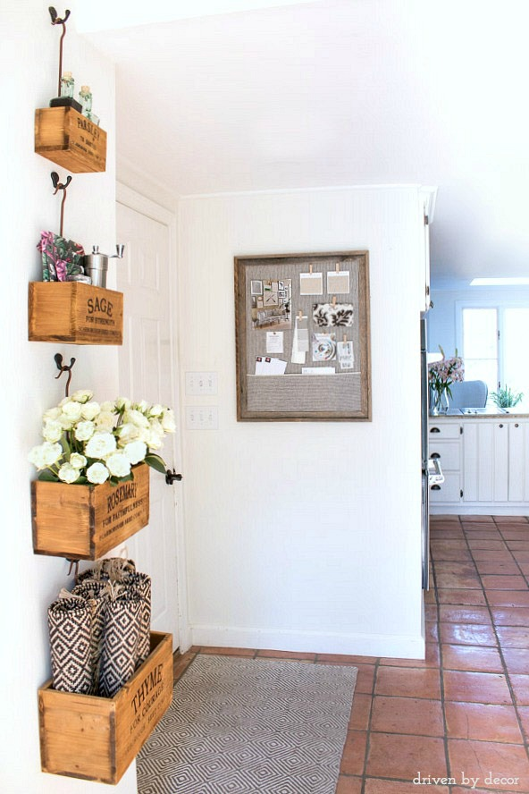 Organizational goal for our kitchen - make this DIY framed cork bulletin board!