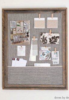 Framed Cork Bulletin Board – A Quick & Easy DIY