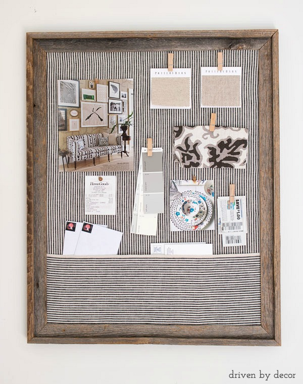 Framed Cork Bulletin Board A Quick Easy Diy