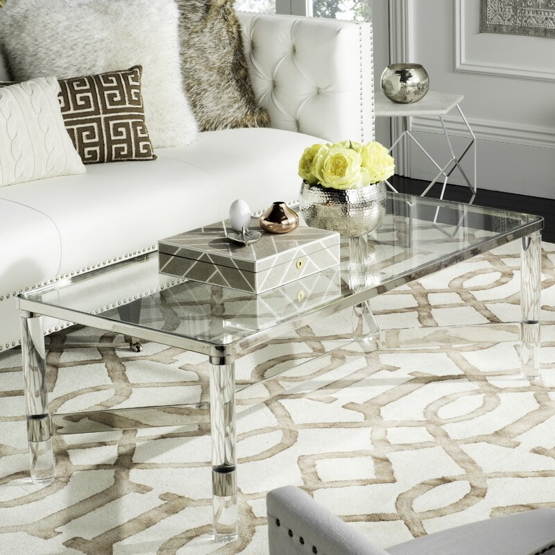 Gorgeous rectangular acrylic coffee table!