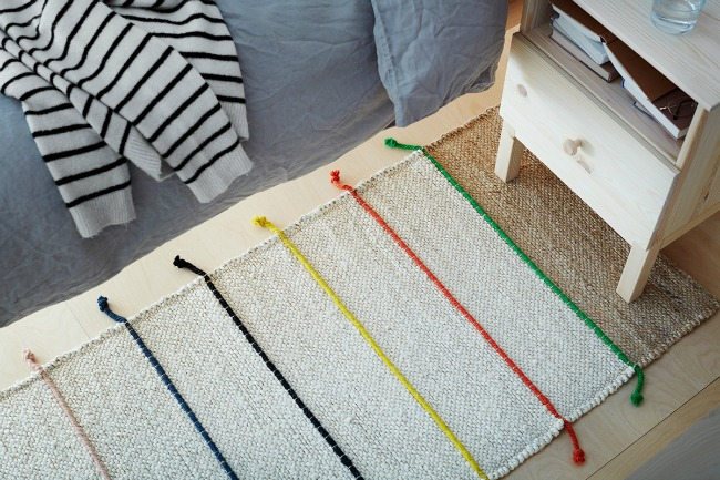 Adorable new TILST rug from IKEA