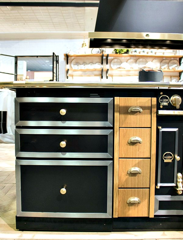 La Cornue Range and cabinetry in black wood and mixed metals