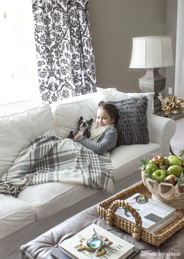 Our IKEA EKTORP sofa - I love how it's worry-free since it has washable slipcovers!