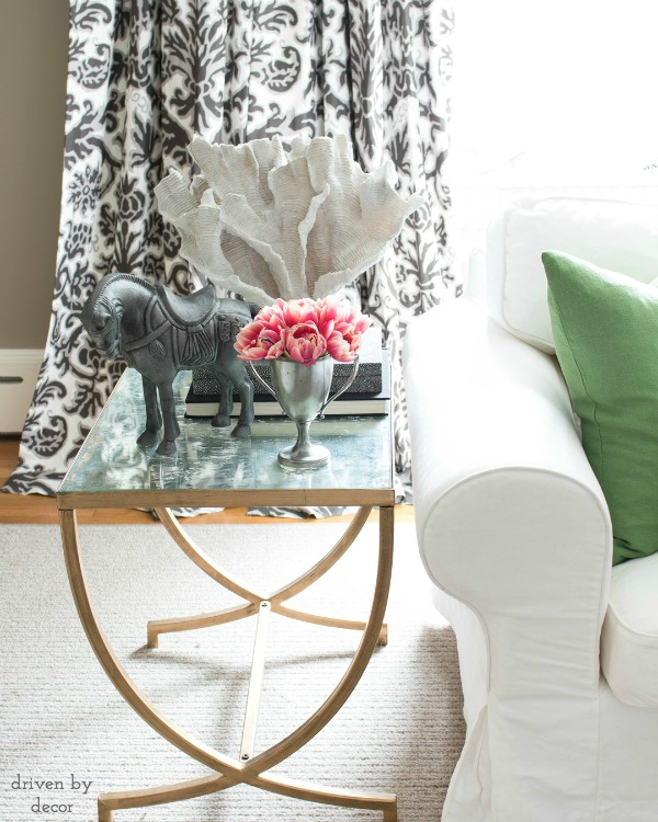 Styled living room side table