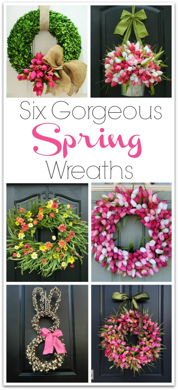 six spring wreaths you can buy that would make gorgeous front door decorations links to