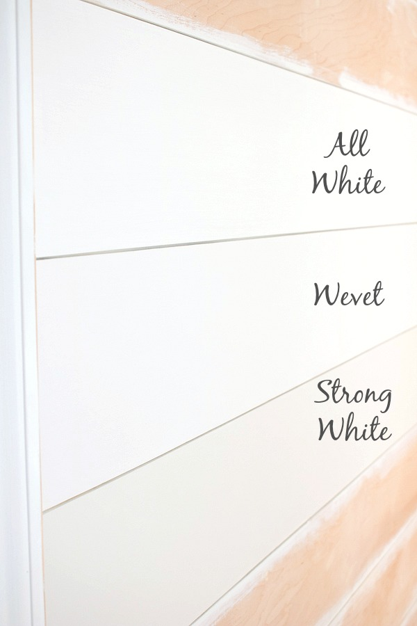 Choosing between the whitest of Farrow & Ball's white paint colors