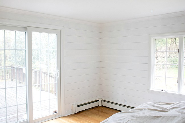 DIY shiplap walls in progress