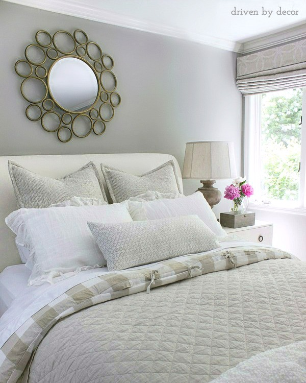 A Single Centered Mirror Is A Great Choice For Decorating The Space Above Your Bed