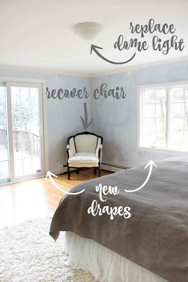 Makeover plans for master bedroom corner
