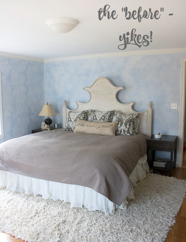 Our master bedroom before the makeover
