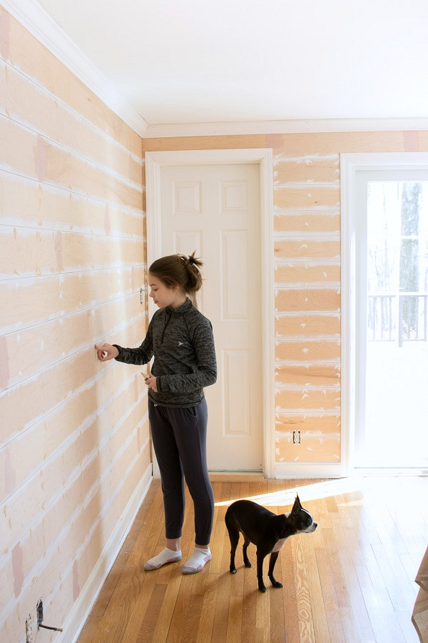 One Room Challenge Week 2 A Start To The Shiplap Nail