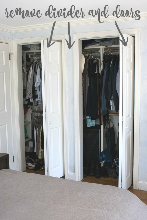Plans for master bedroom closet