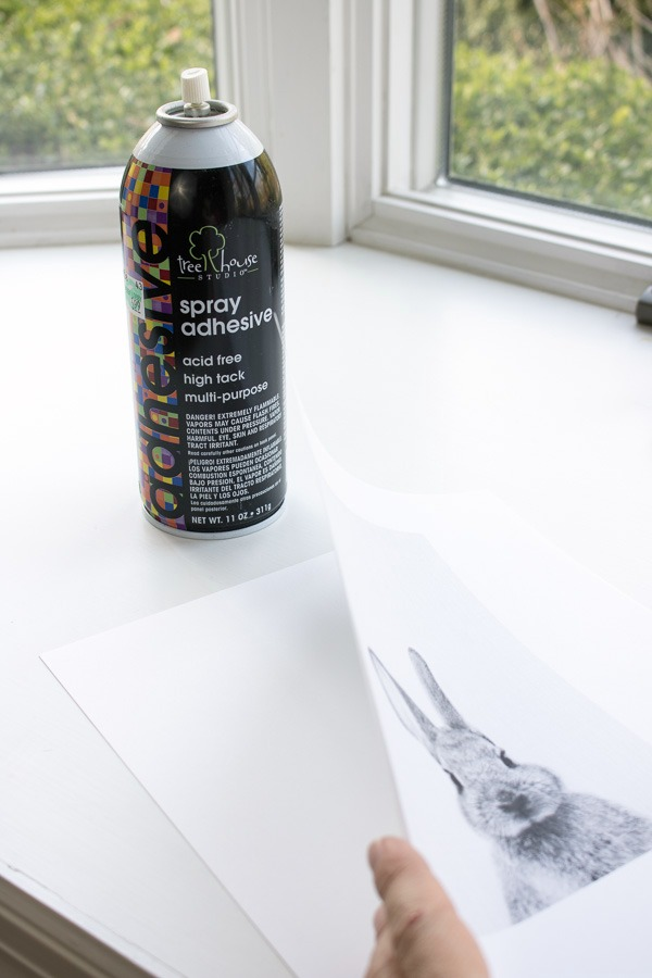 The solution for a printer that won't print on cardstock - print on regular paper and use spray adhesive to adhere it to cardstock!