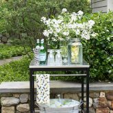 A simple outdoor bar cart (from IKEA!) for entertaining - full source list included in blog post!