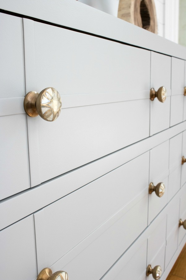 Bedroom dresser painted in Farrow & Ball's Worsted