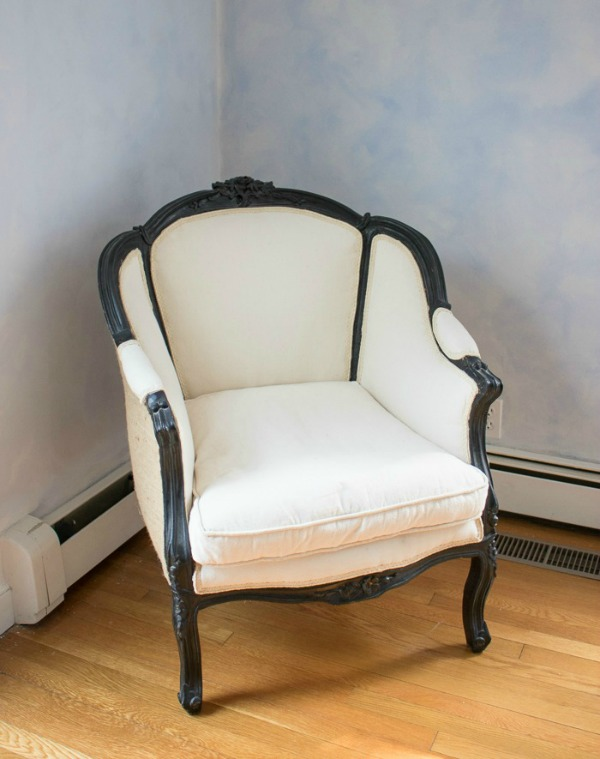 Before of upholstered master bedroom chair