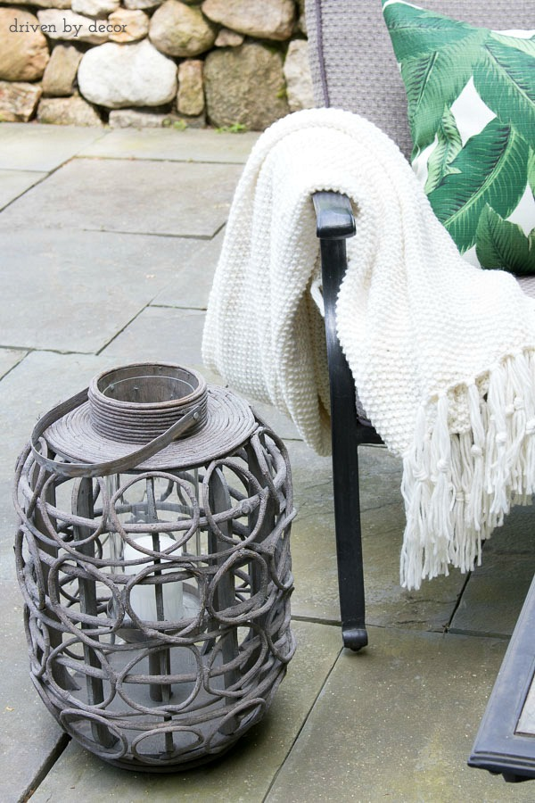Lanterns are a simple, inexpensive way to dress up an outdoor space