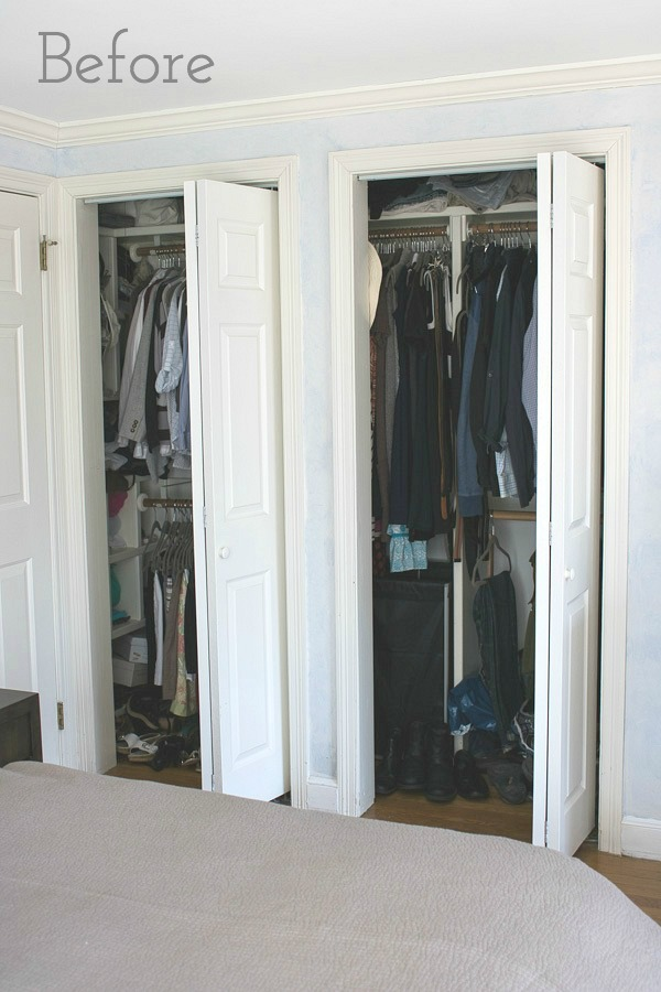 Replacing Bi-fold Closet Doors with Curtains: Our Closet ...