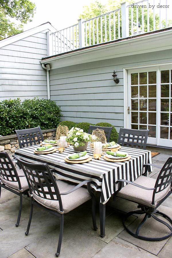 Outdoor dining area - full source list included in post