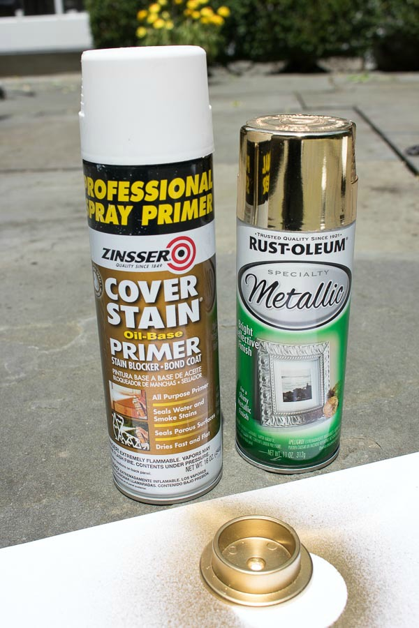 How to spray plastic or metal gold - my favorite products and tips!