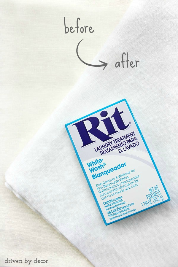 Whiten and brighten linens without bleach - tips for using Rit!