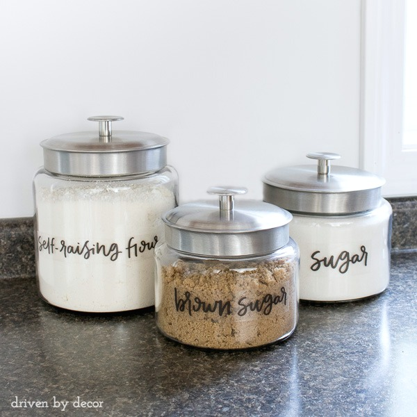 Anchor Hocking's Montana jars with pre-printed clear labels