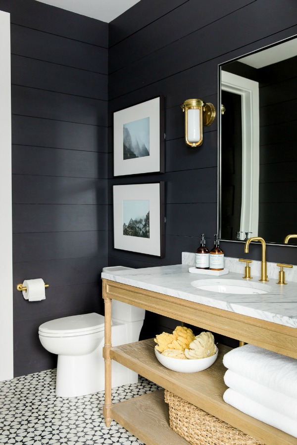 Black shiplap - love!
