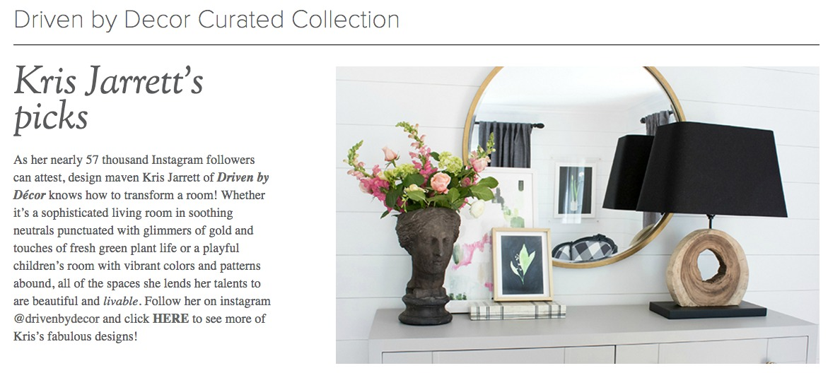 Driven by Decor's Curated Collection
