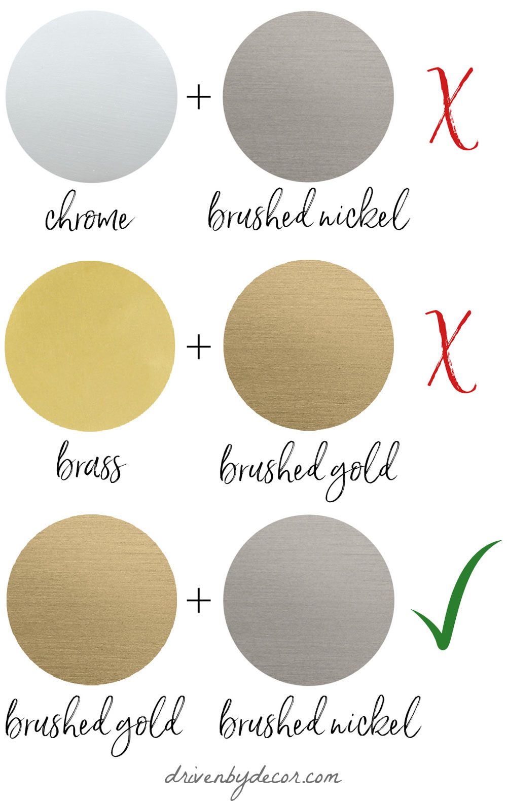 The Do's and Don'ts of mixed metals in home decor!