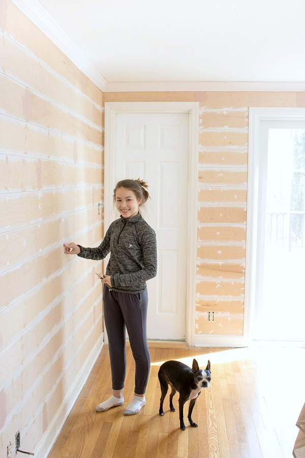DIY tutorial on installing shiplap walls!