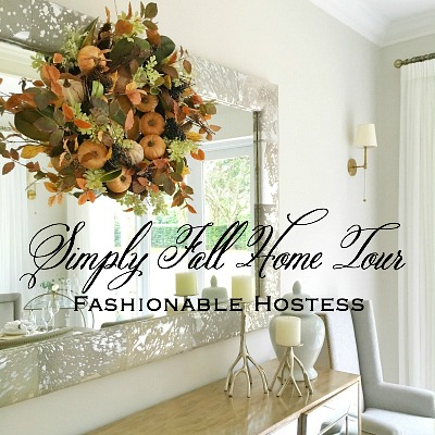 Fashionable Hostess Simply Fall Home Tour