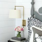 Faux shiplap walls - love! Post includes tips for DIYing it yourself!