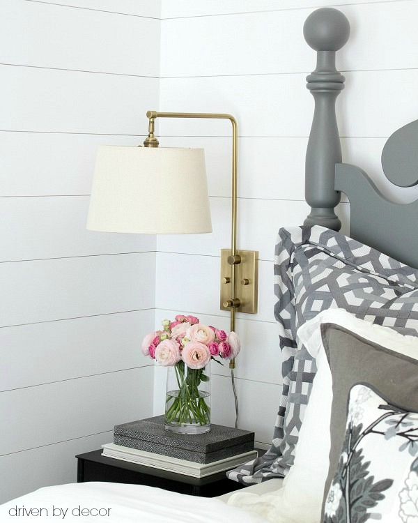 65eaba03338f Faux shiplap walls - love! Post includes tips for DIYing it yourself!