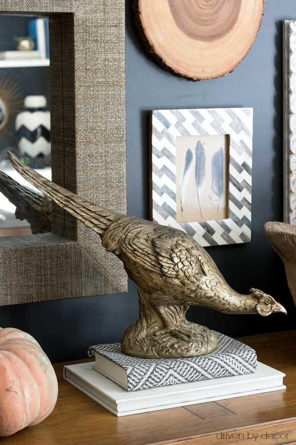 Gold pheasant for fall decorating