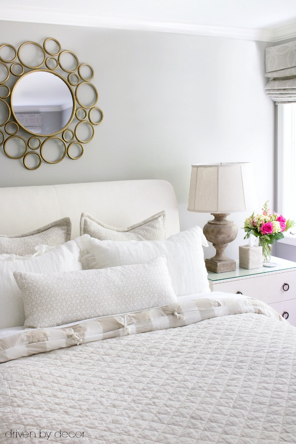 Guest room in textured neutrals