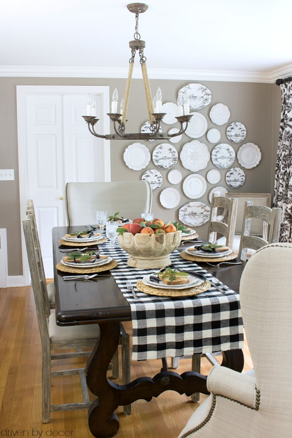 My 2016 simply fall home tour driven by decor - How to decorate a dining room ...