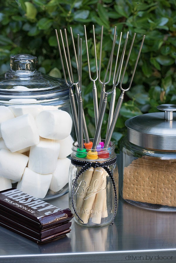 Simple set up for S'mores